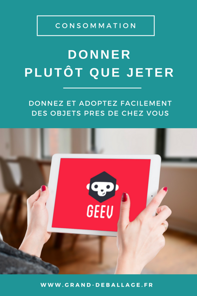 APPLICATION GEEV DON ENTRE PARTICULIERS