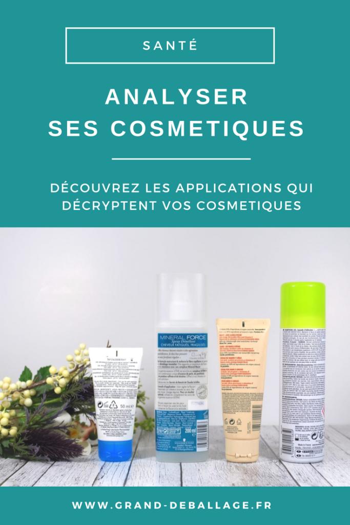 applications pour analyser ses produits de beauté cosmetiques