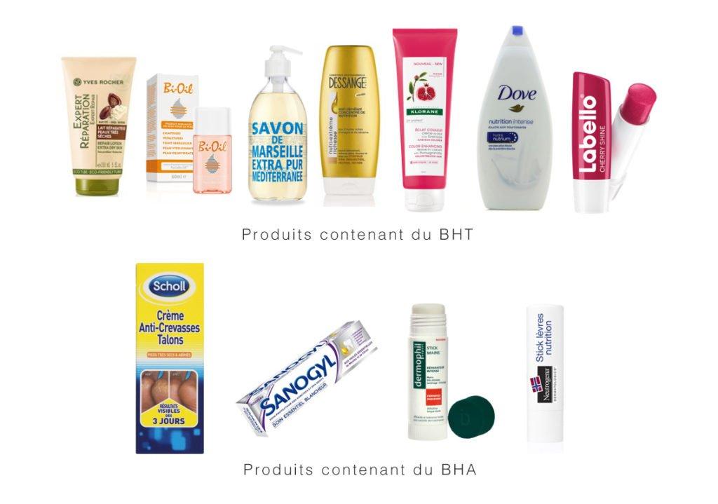 perturbateurs endocriniens - cosmetiques -BHA ET BHT
