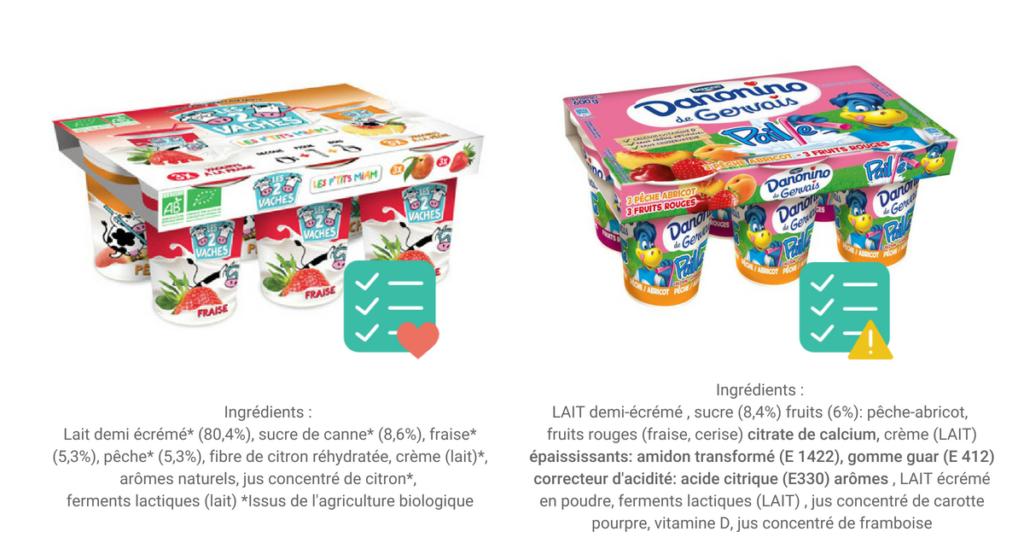 choisir des yaourts aux fruits pour enfants