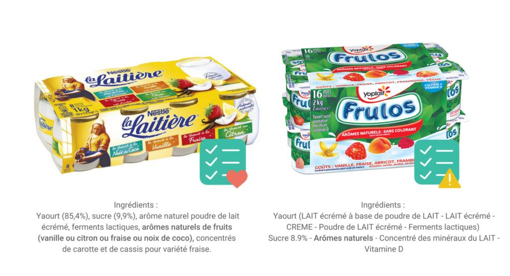 le bon choix au supermarche yaourts aromatises