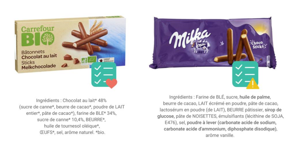 gâteaux supermarché sans additif