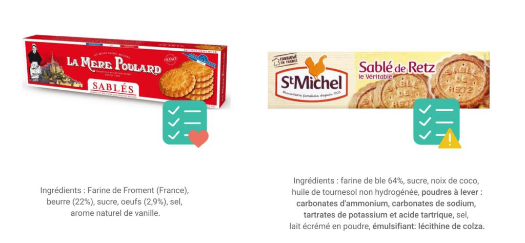 gâteaux industriels sans additifs