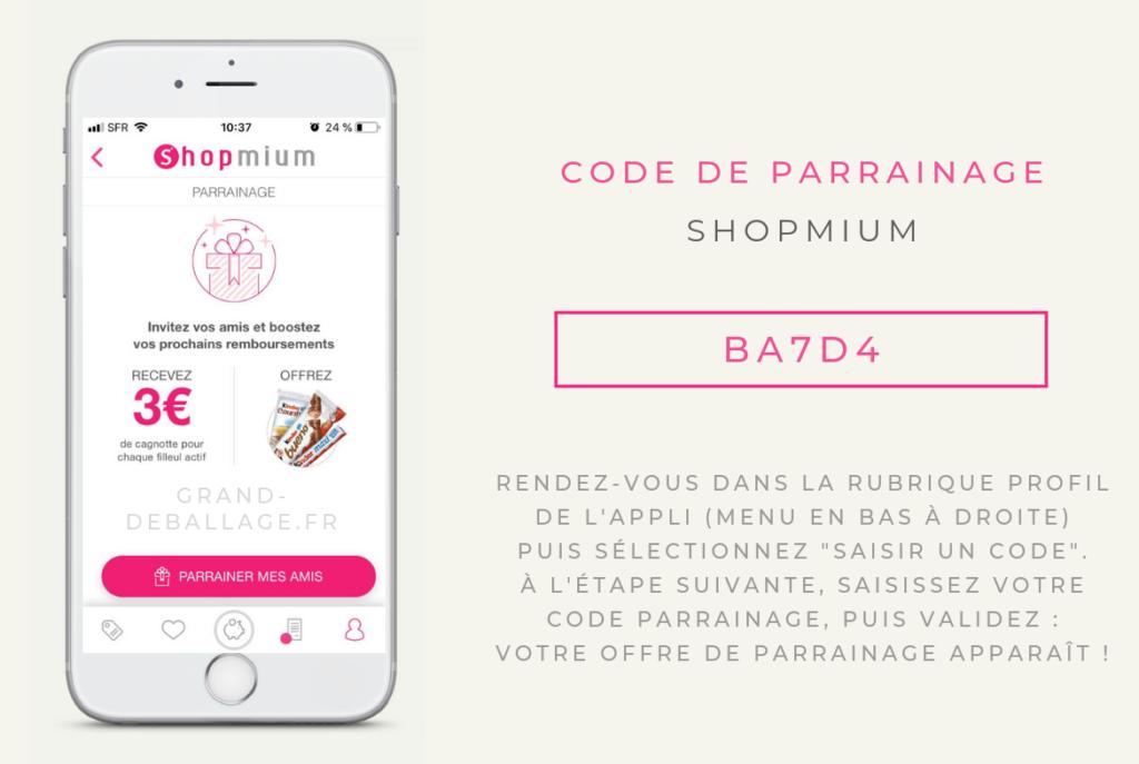 code parrainage shopmium