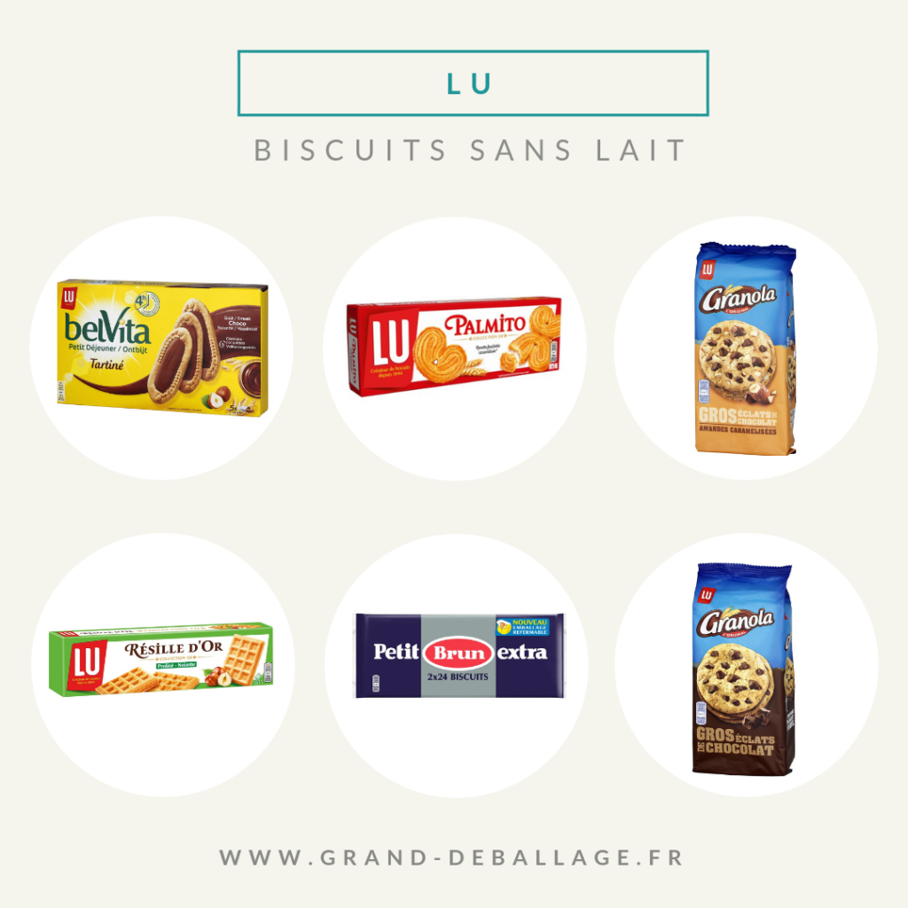 biscuits sans lait de grandes surfaces