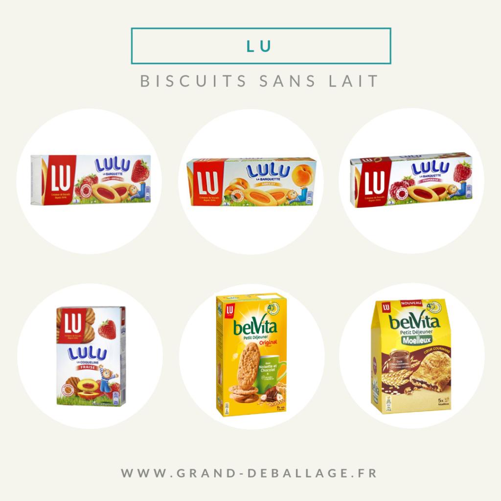 biscuits sans lait de supermarché