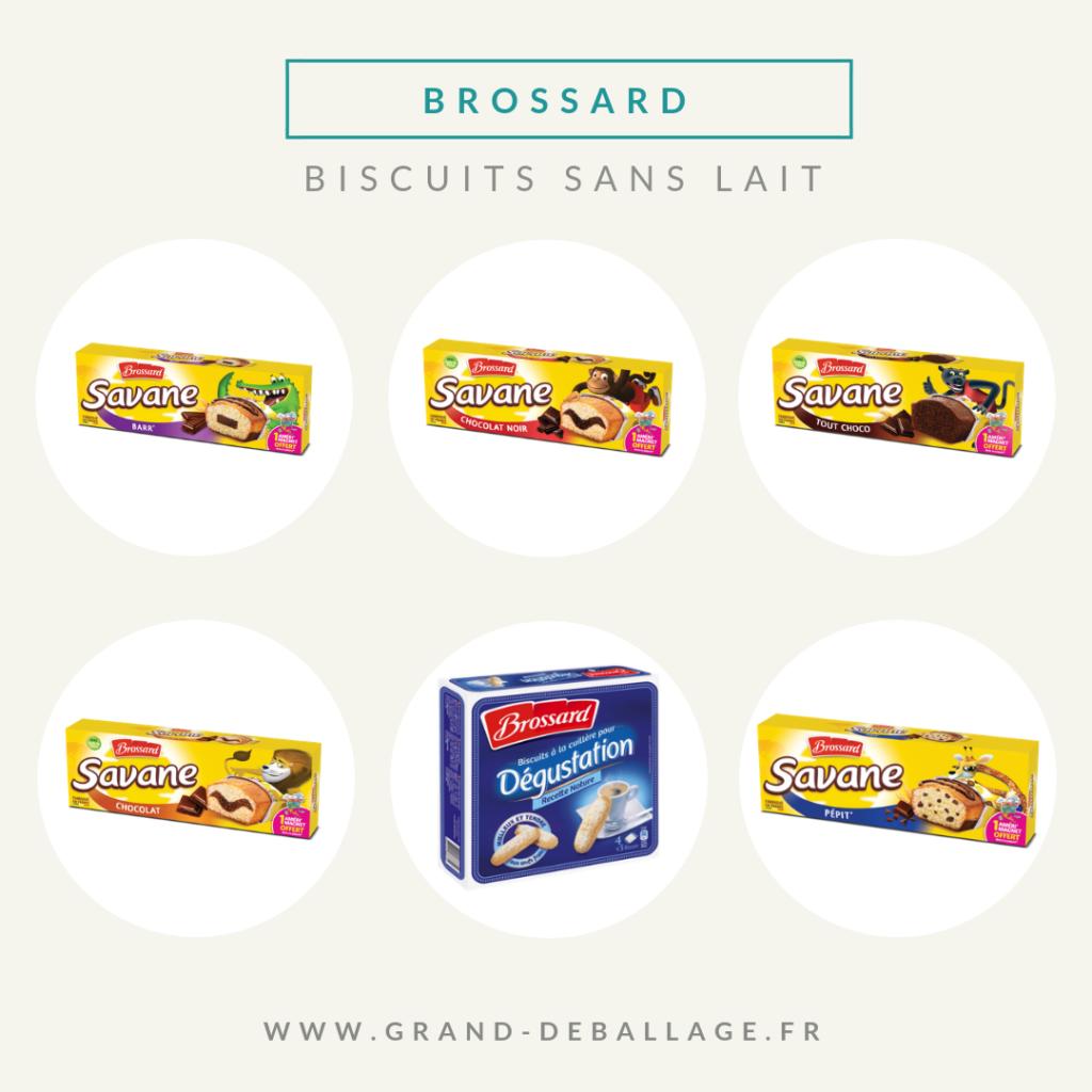 biscuits sans lait de supermarché marque brossard
