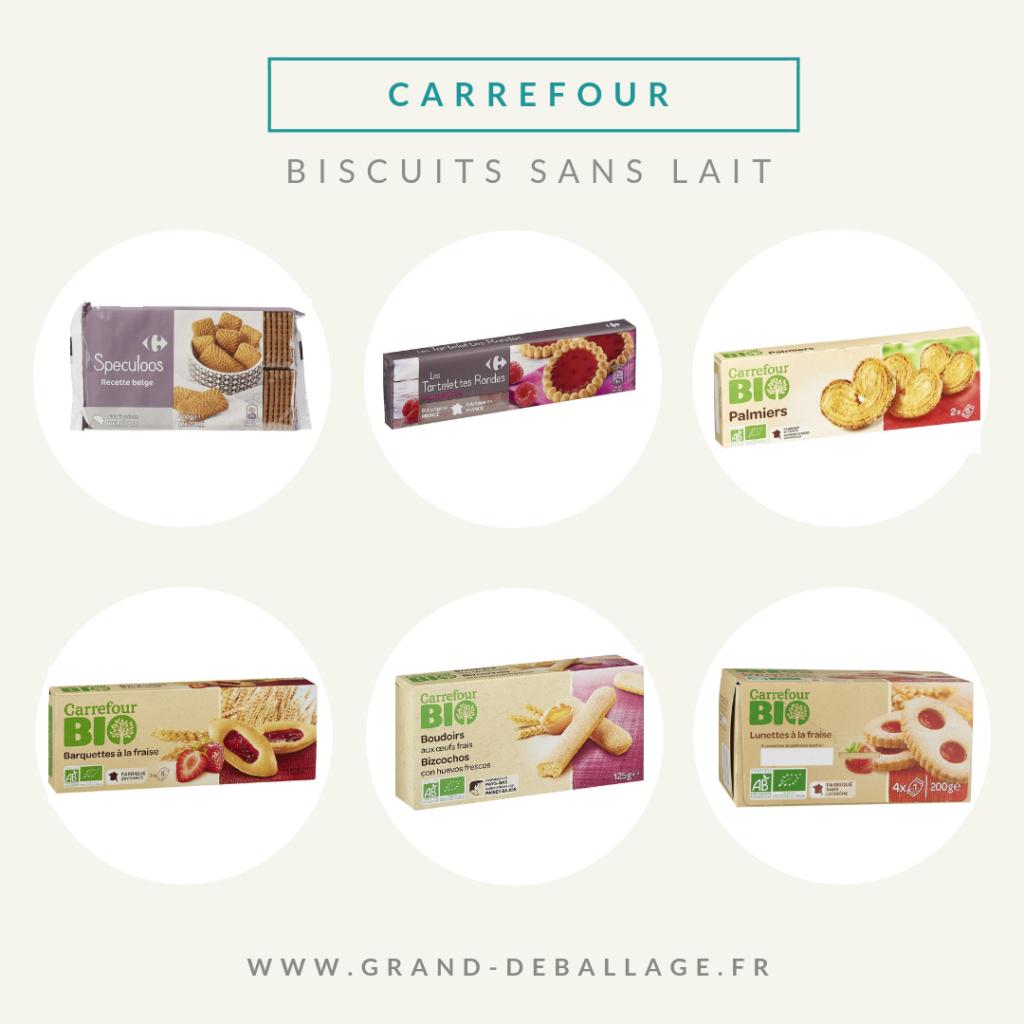 biscuits sans lait de la marque carrefour