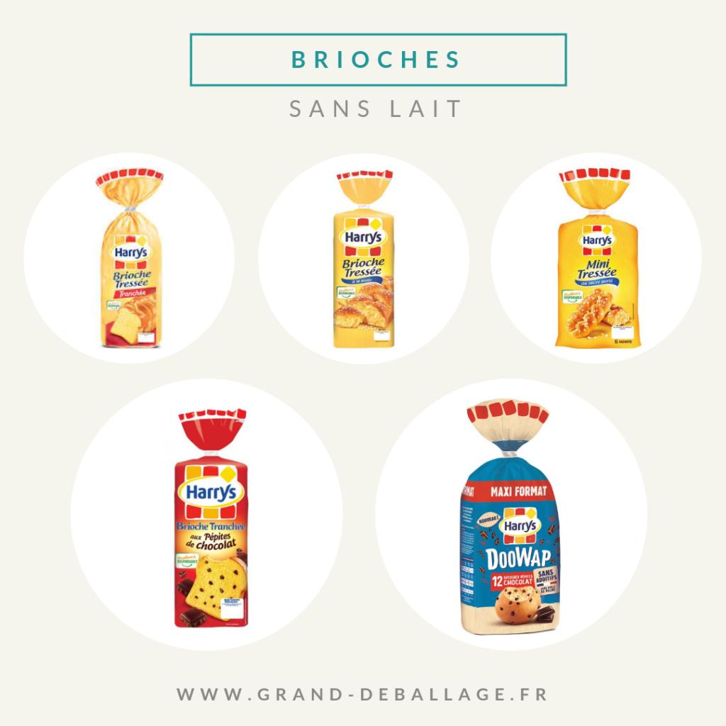 brioche sans produits laitiers de supermarche