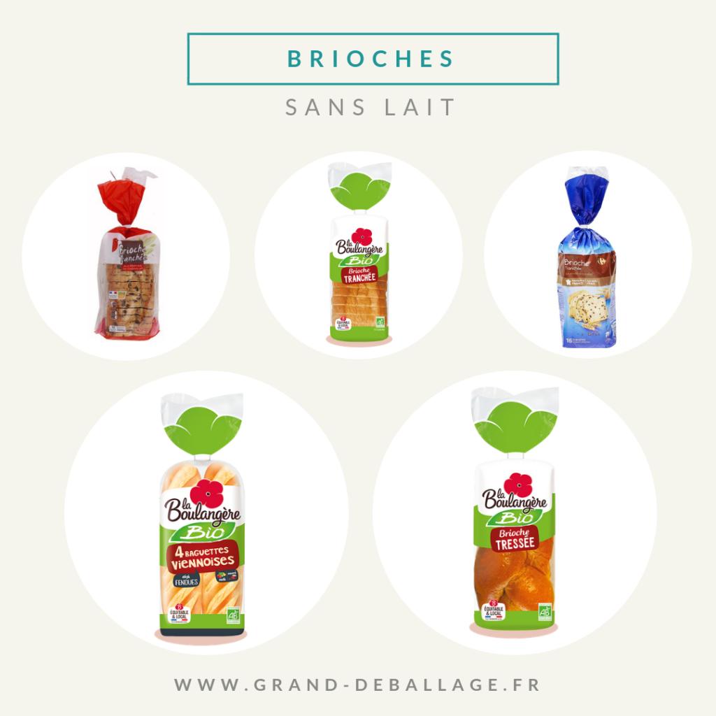 brioche sans lactose de supermarche