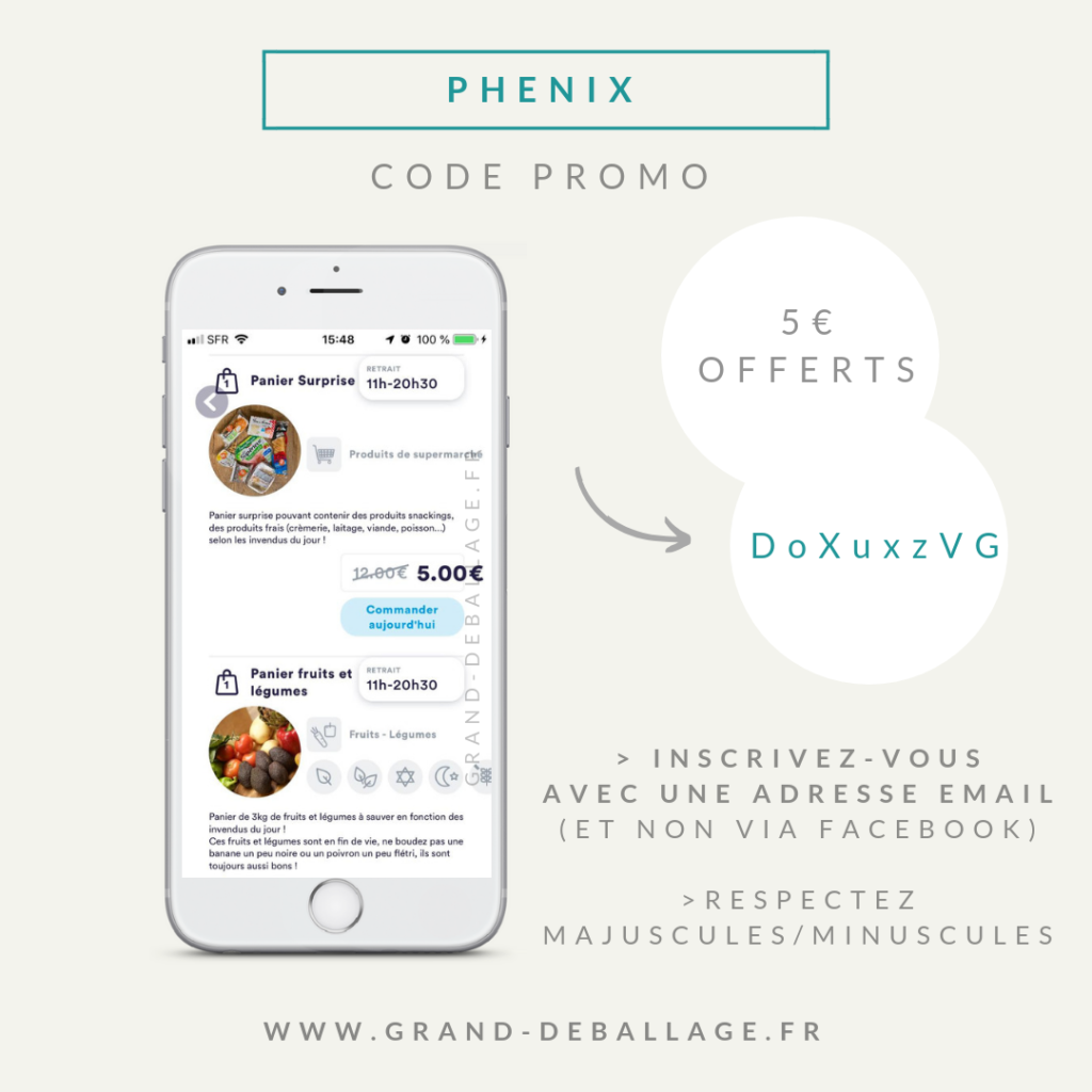 code promo appli phenix