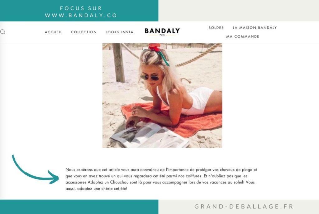 bandaly.com avis bandeau cheveux