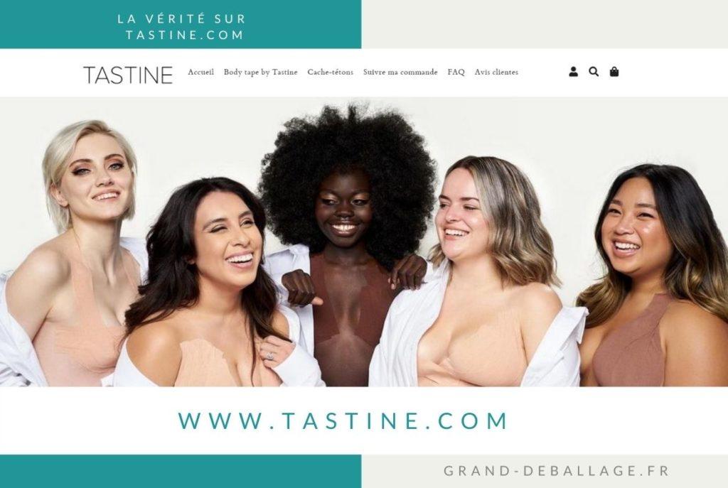 Capture du site www.tastine.com