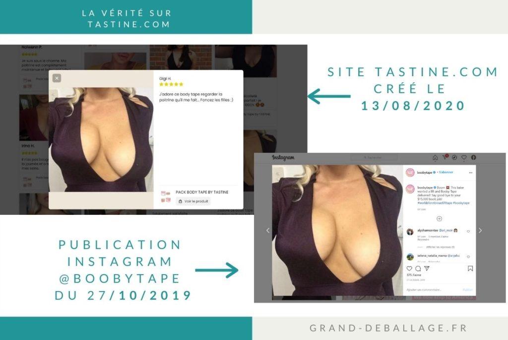 Avis clients publiés sur le site www.tastine.com
