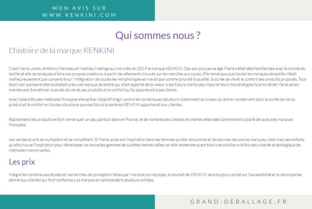 avis sur les brassieres kenkini code promo