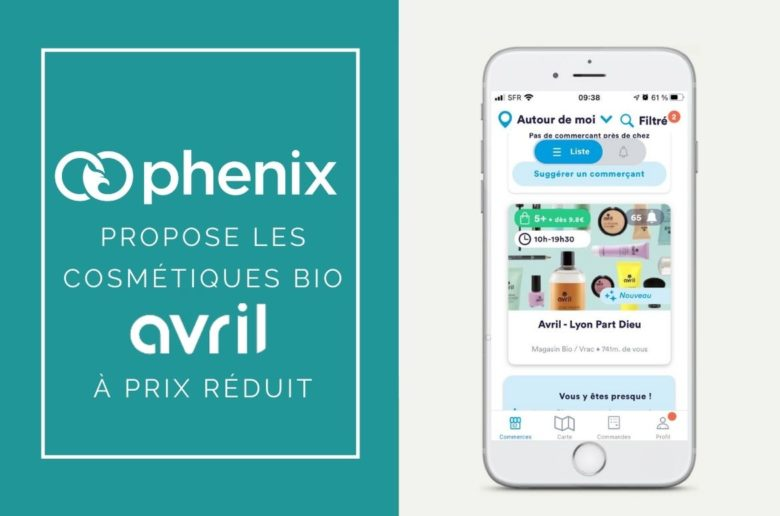Avril cosmetiques bio sur application phenix