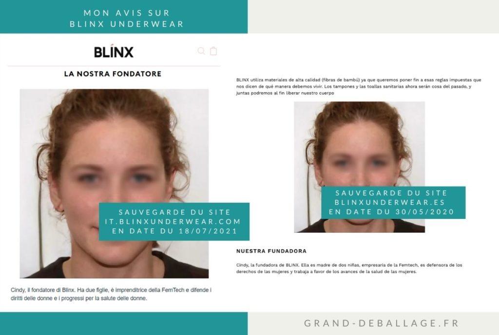 FONDATEUR MARQUE BLINX UNDERWEAR CULOTTE REGLES