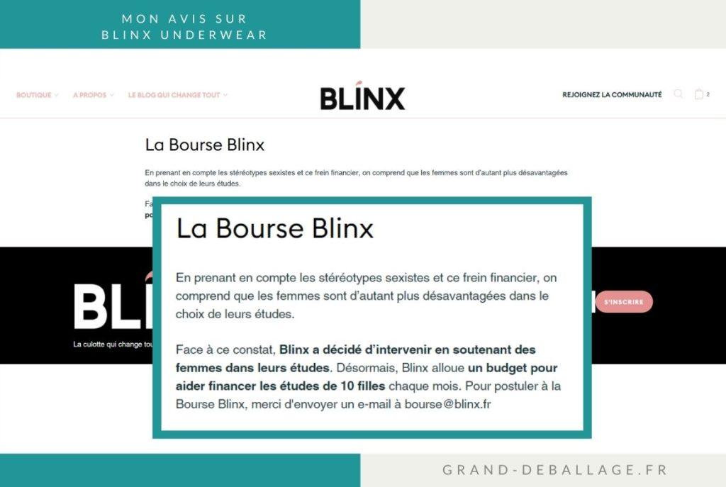 LA BOURSE BLINX CULOTTES MENSTRUELLES AVIS