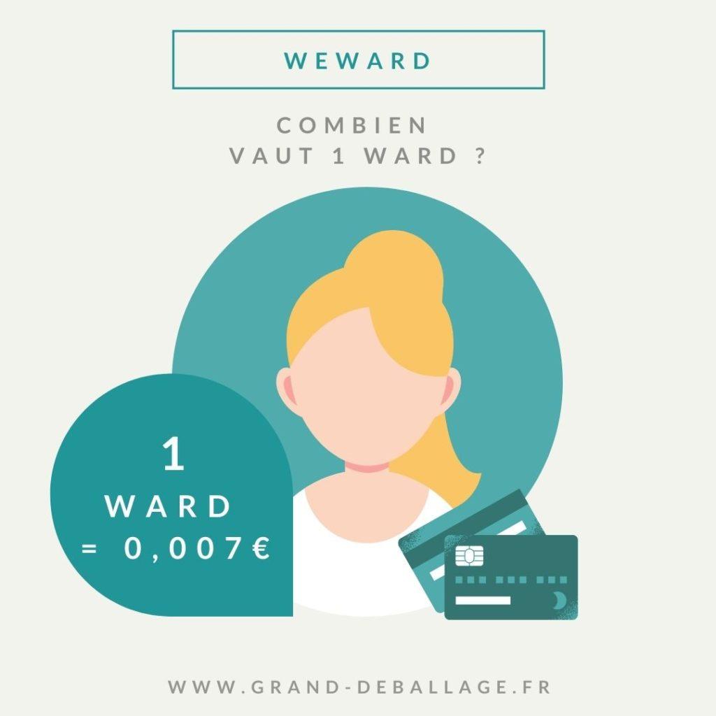 application we ward combien vaut un ward