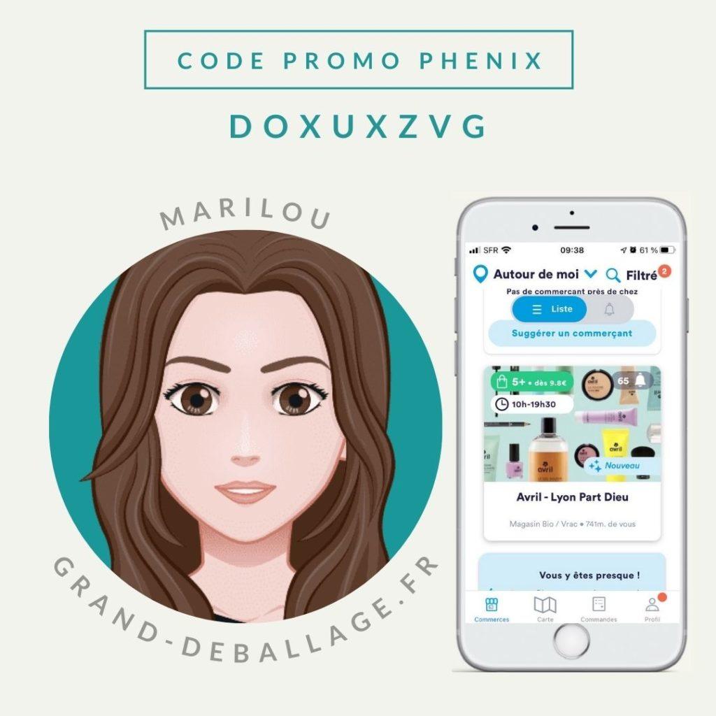 code promo application phenix