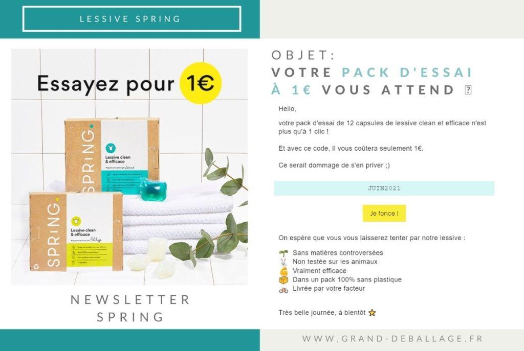 code promo lessive spring