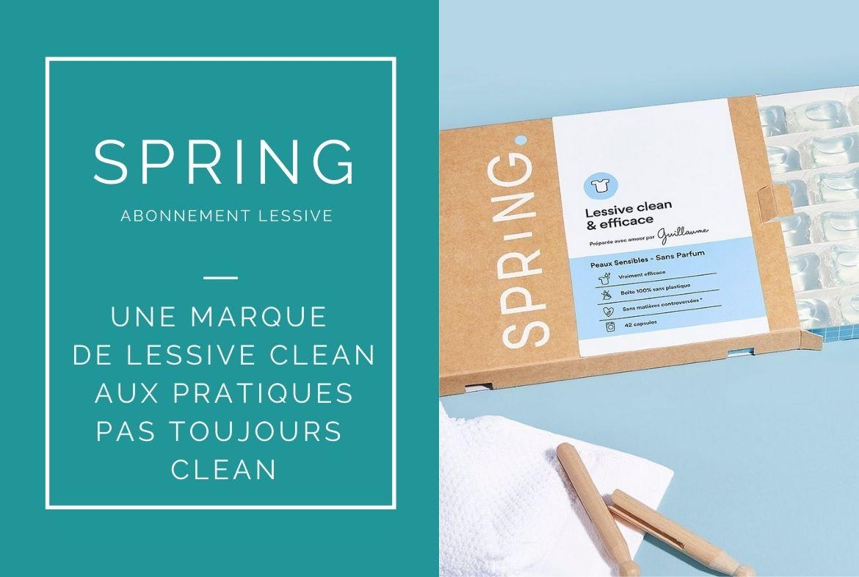 mon avis sur la lessive spring