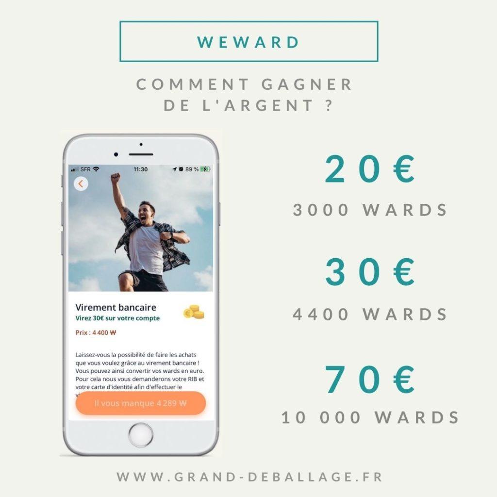 Application weward comment gagner de l'argent