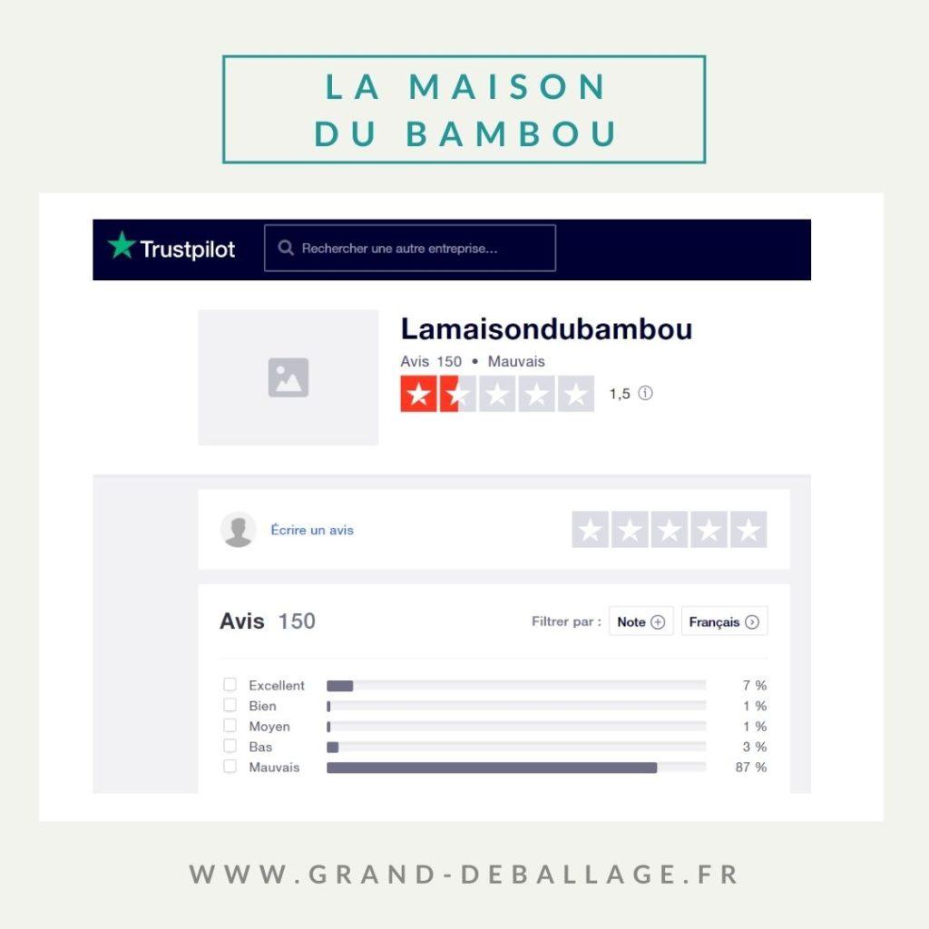 AVIS TRUSTPILOT LA MAISON DU BAMBOU